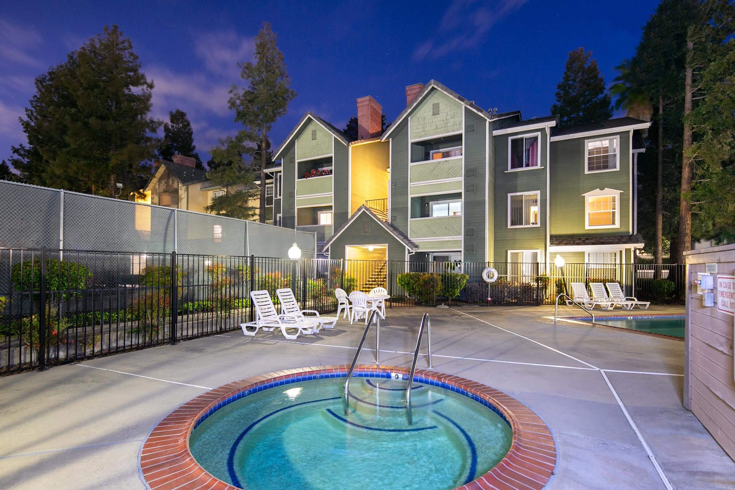 Pool at Victorian Square Apartments in  Milpitas, CALandscaping at Victorian Square in Milpitas CA