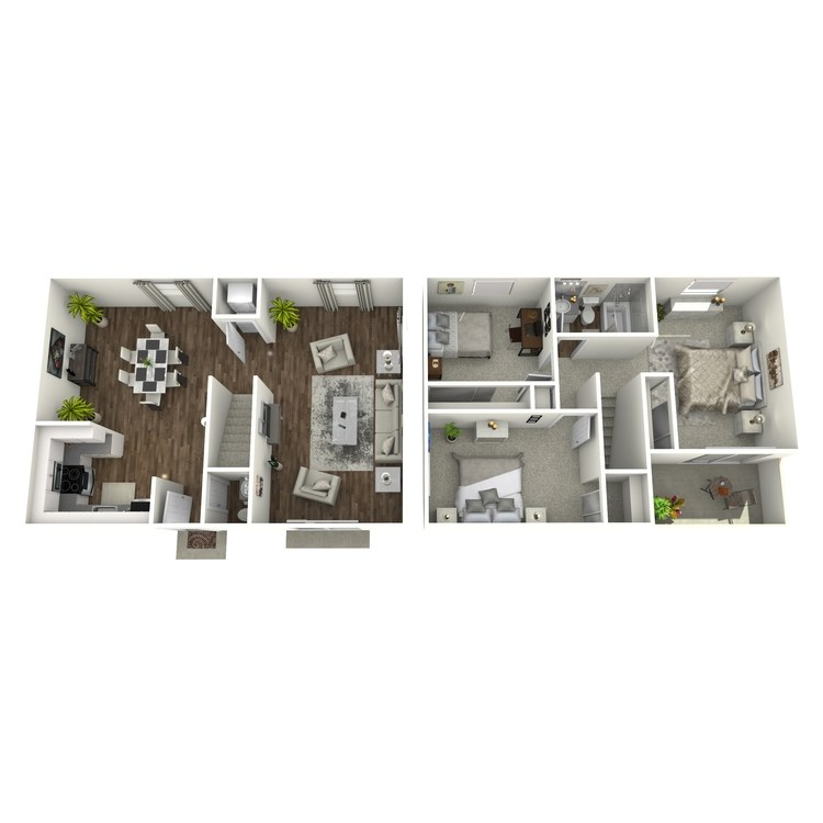 Floor plan image of 3x1.5 Townhome