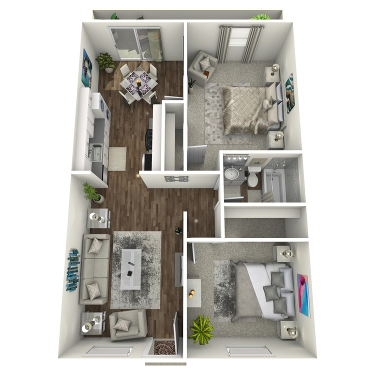 Floor plan image of 2x1 A