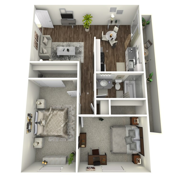Floor plan image of 2x1 C