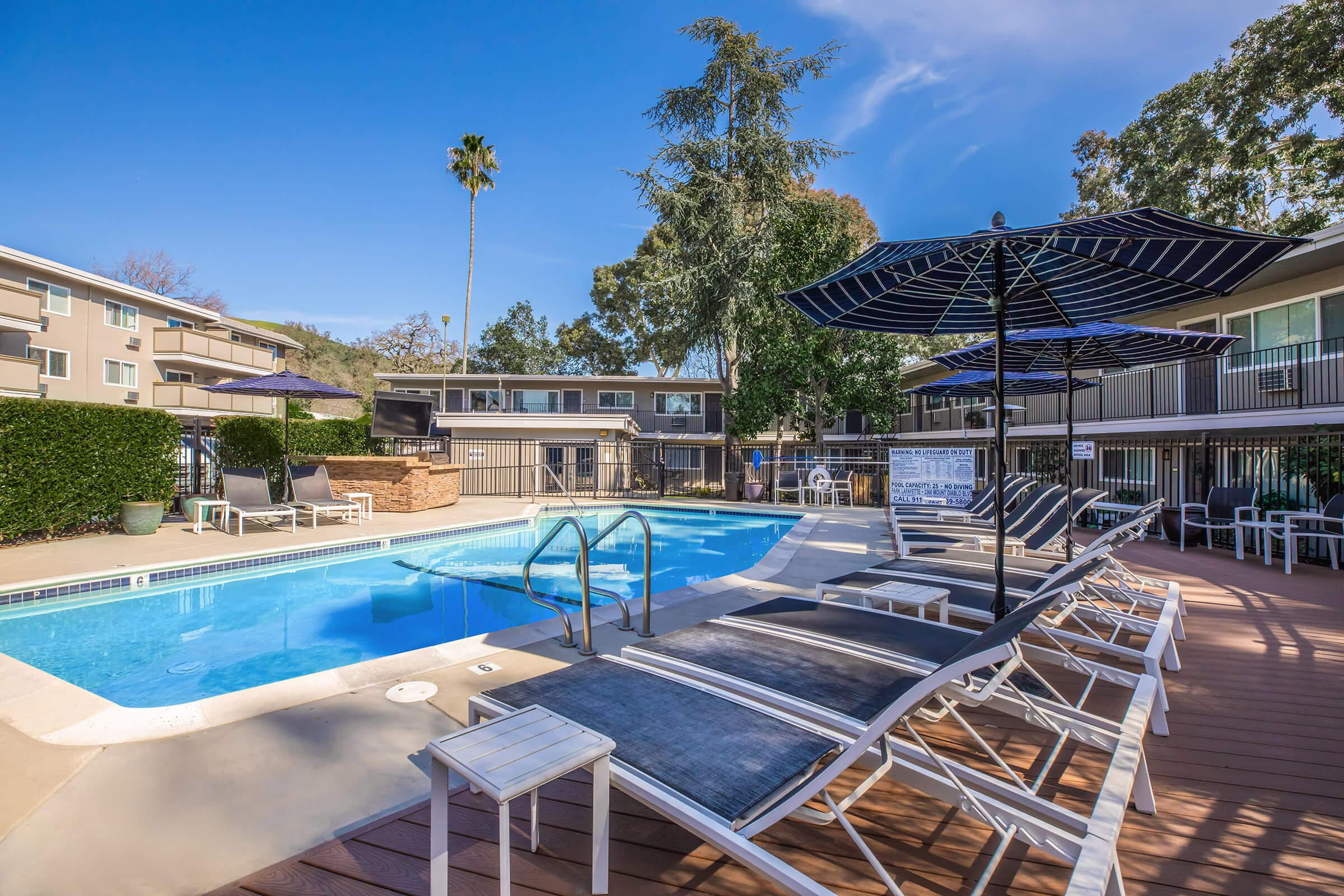 Pool at ParkLafayettein Lafayette CA