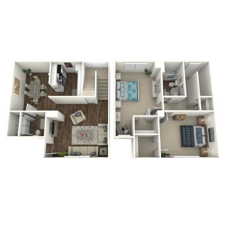 Floor plan image of Willow Townhouse Upgraded