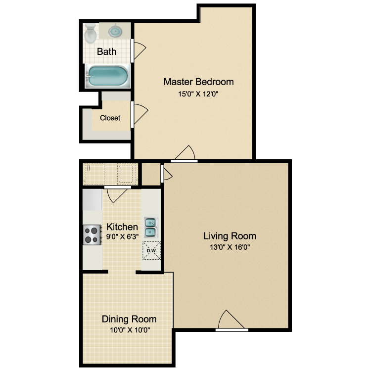 Floor plan image of Milan - B