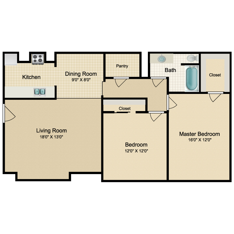 Floor plan image of Venice - D
