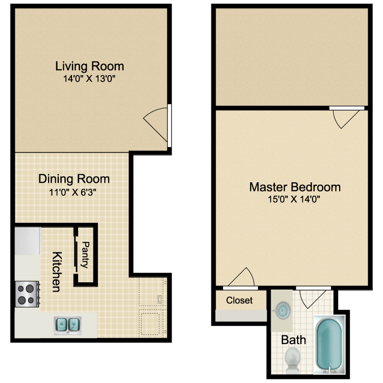 Floor plan image of Florence - E