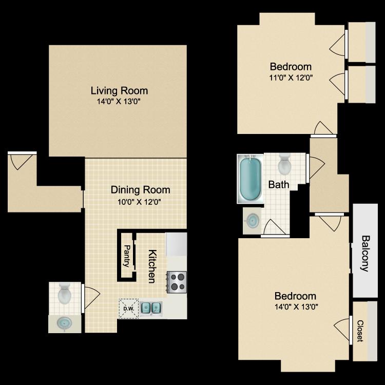 Floor plan image of Madrid