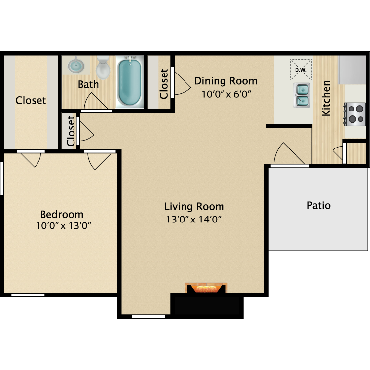 Floor plan image of Kelly