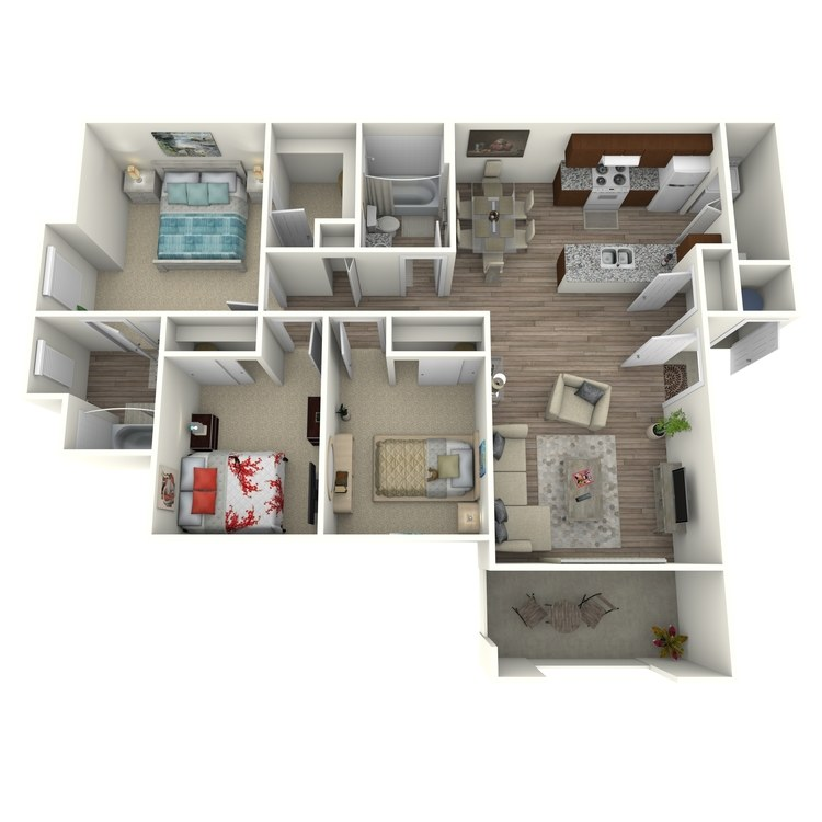 D floor plan image