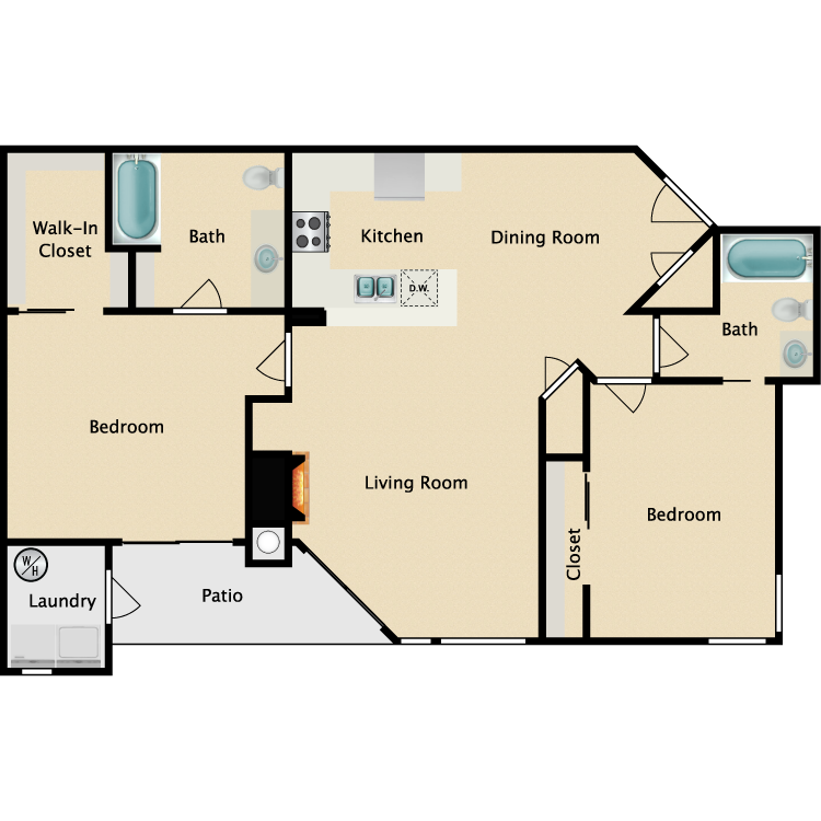 Floor plan image of Milan