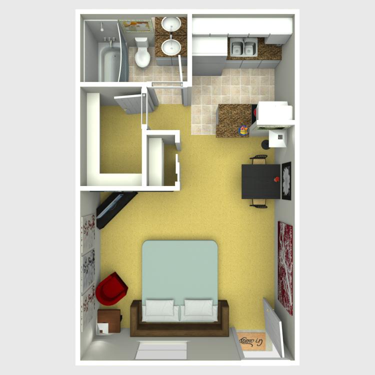 Floor plan image of Studio