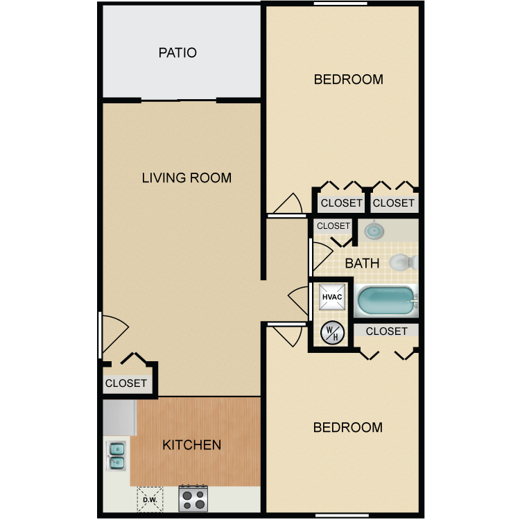 Floor plan image of Canyon 2 Bed