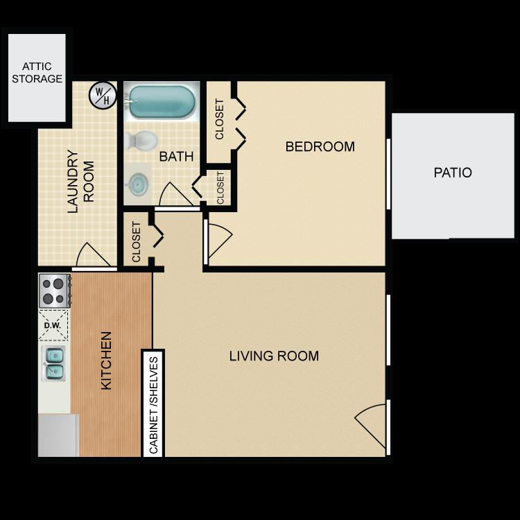 Floor plan image of Knox Landing 1 Bed