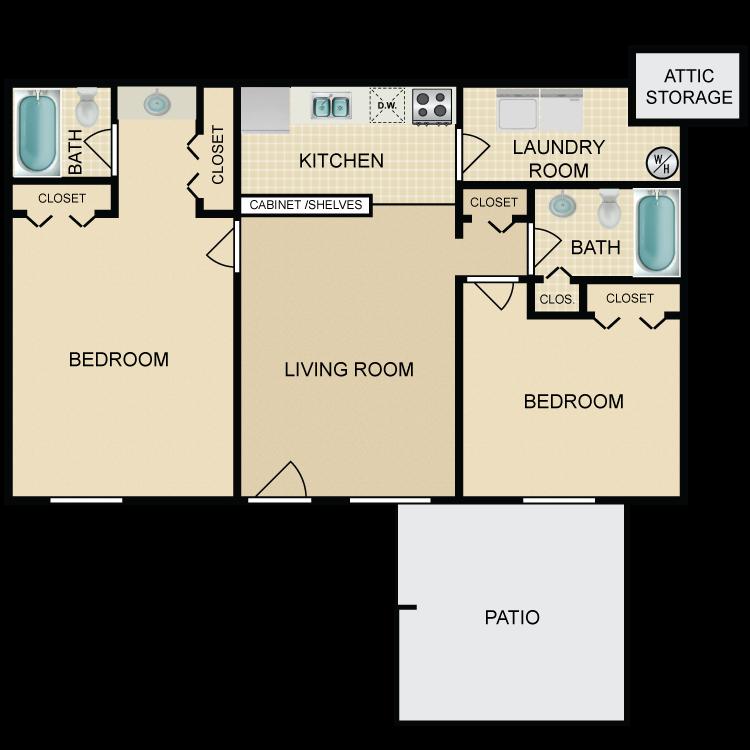 Floor plan image of Knox Landing 2 Bed