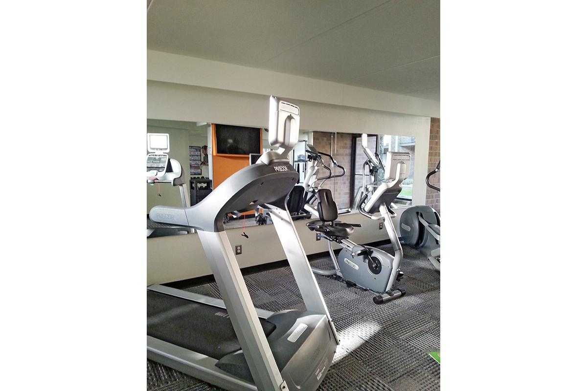 The Exercise Equipment In The Fitness Center