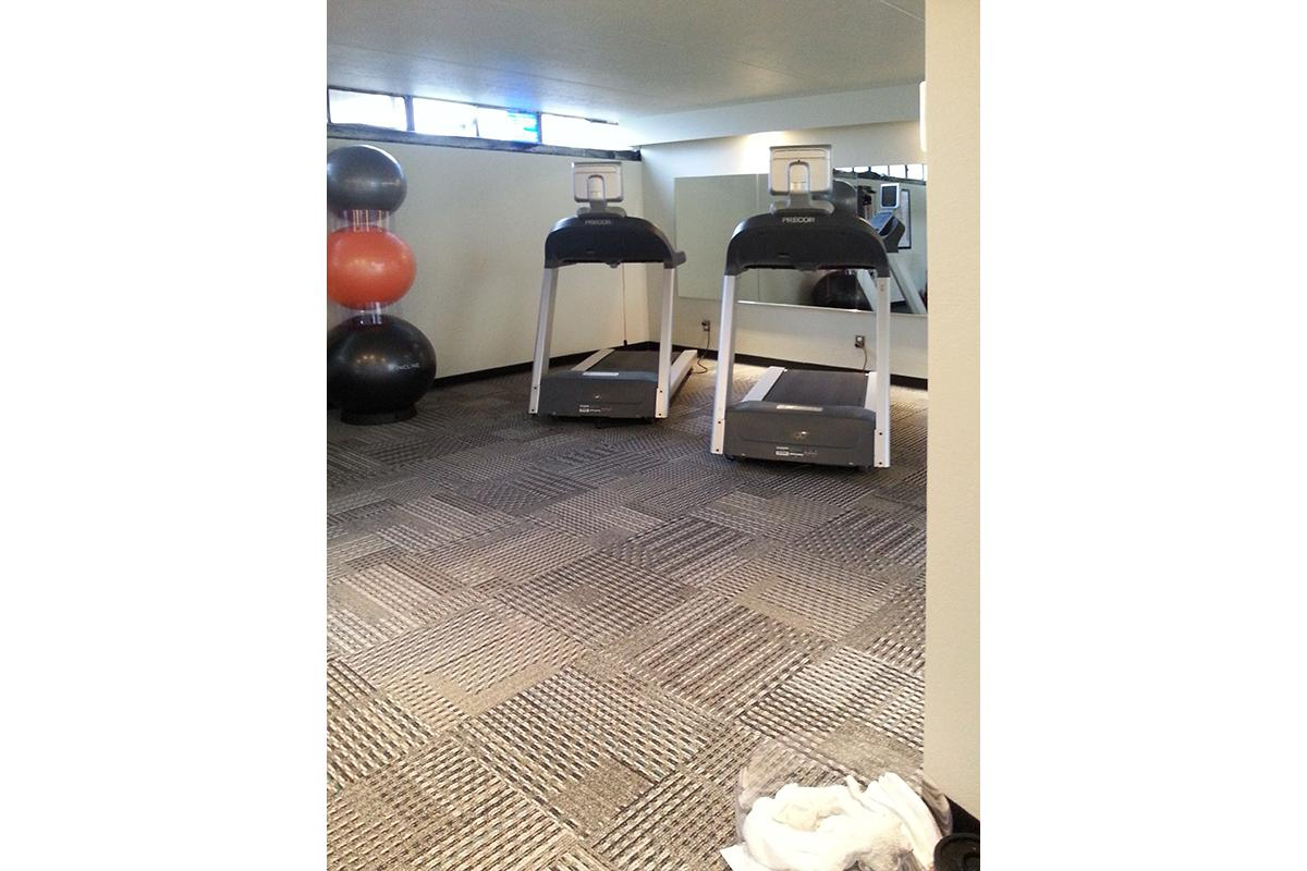 The Treadmills In The Fitness Center