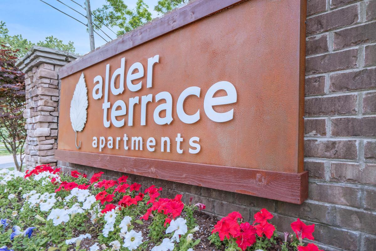 Alder Terrace Apartments Monument Sign