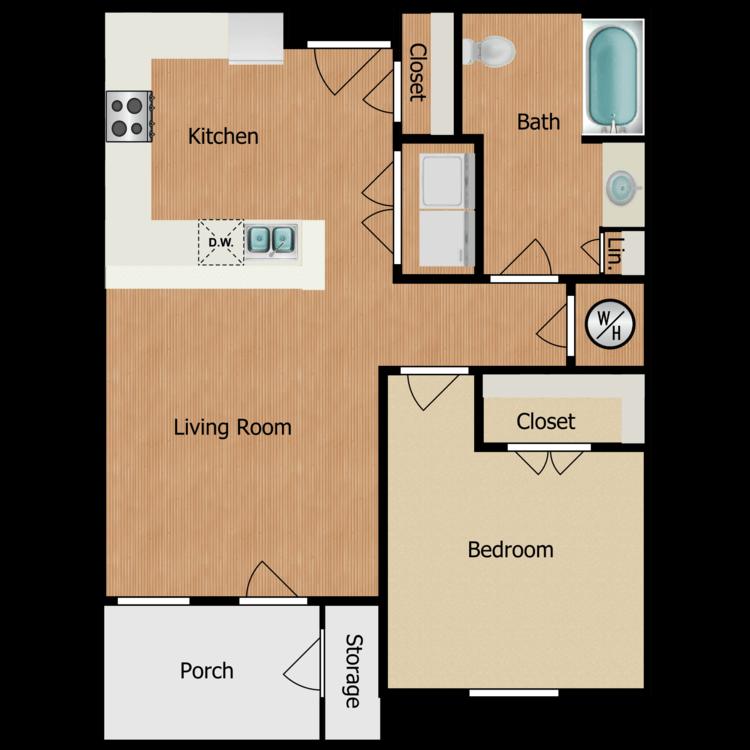 Floor plan image of 1A-1B1B