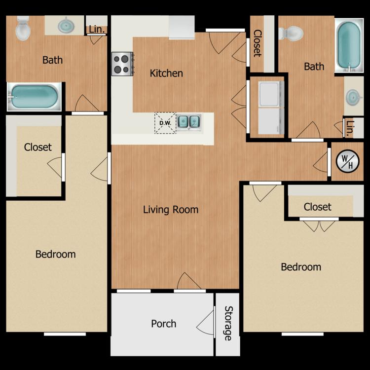 Floor plan image of 2B-2B2B
