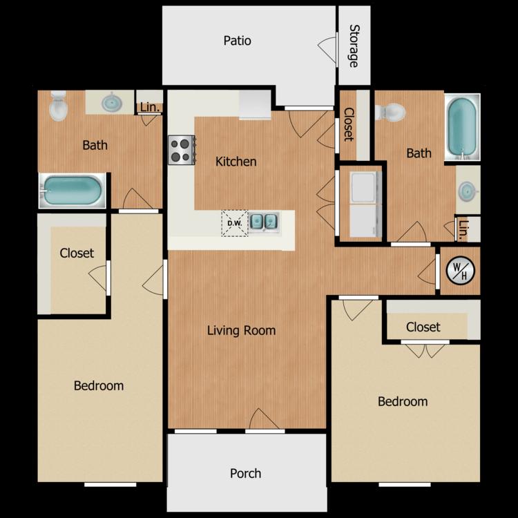 Floor plan image of 4D-2B2B