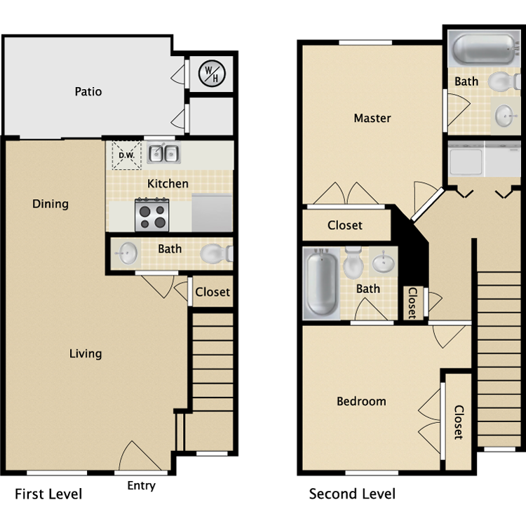 Townhome floor plans house plan 2017 Luxury townhome floor plans