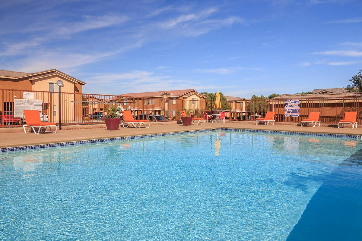 Siena Townhomes provides a shimmering swimming pool