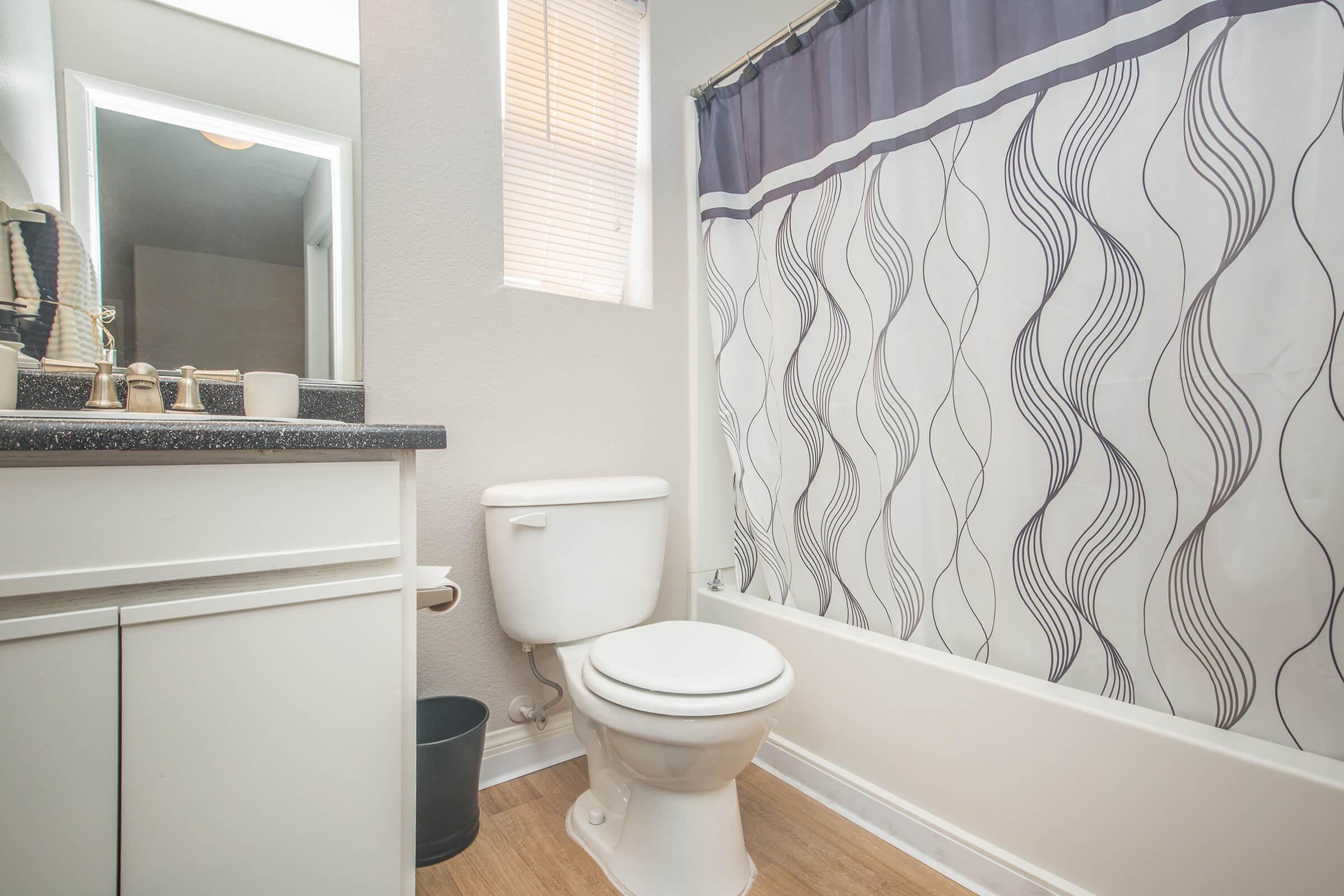 Chic bathroom at Siena Townhomes in Las Vegas, Nevada