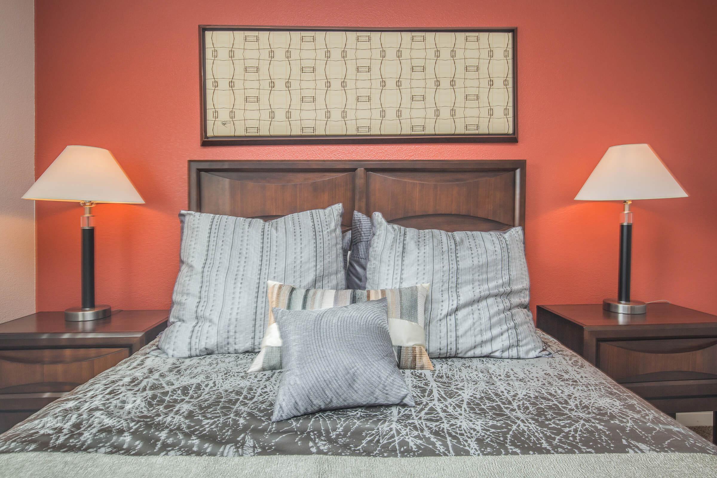 Cozy bedroom at Siena Townhomes in Las Vegas, Nevada