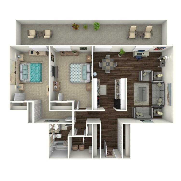 Floor plan image of Vibe 2x1