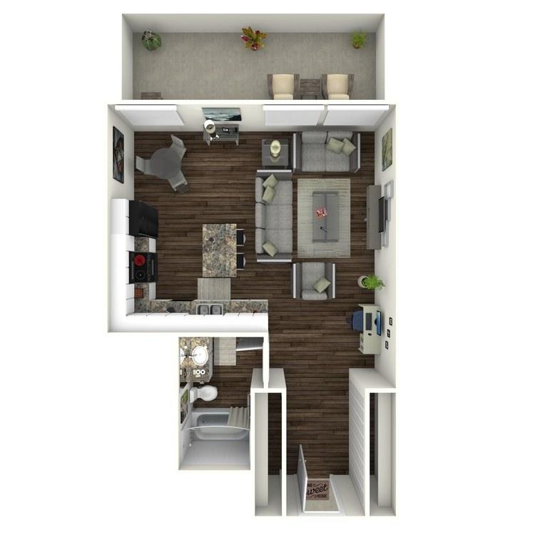 Floor plan image of Studio A