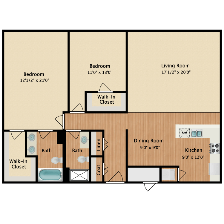 Floor plan image of 2 Traditional