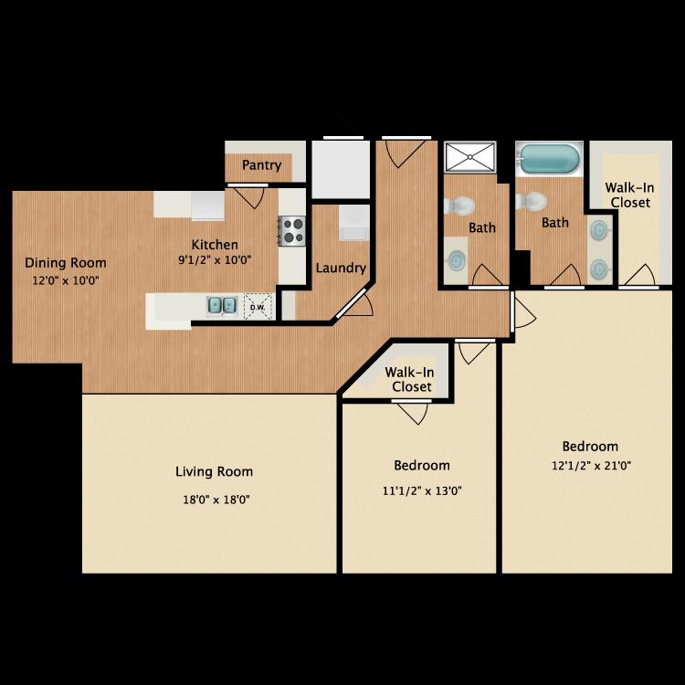 Floor plan image of 2 Deluxe