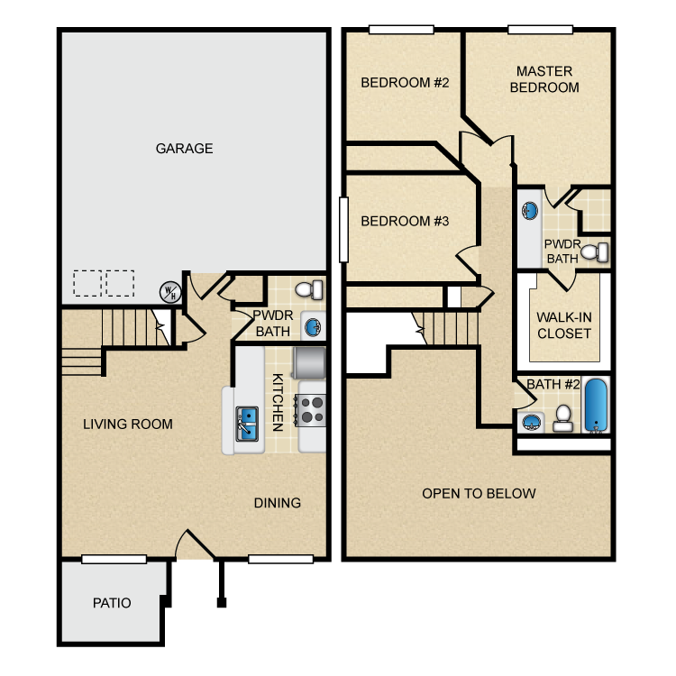 Standard 3 Bedroom. Floor Plans  Hidden Canyon Village Apartments  Apartment Homes in