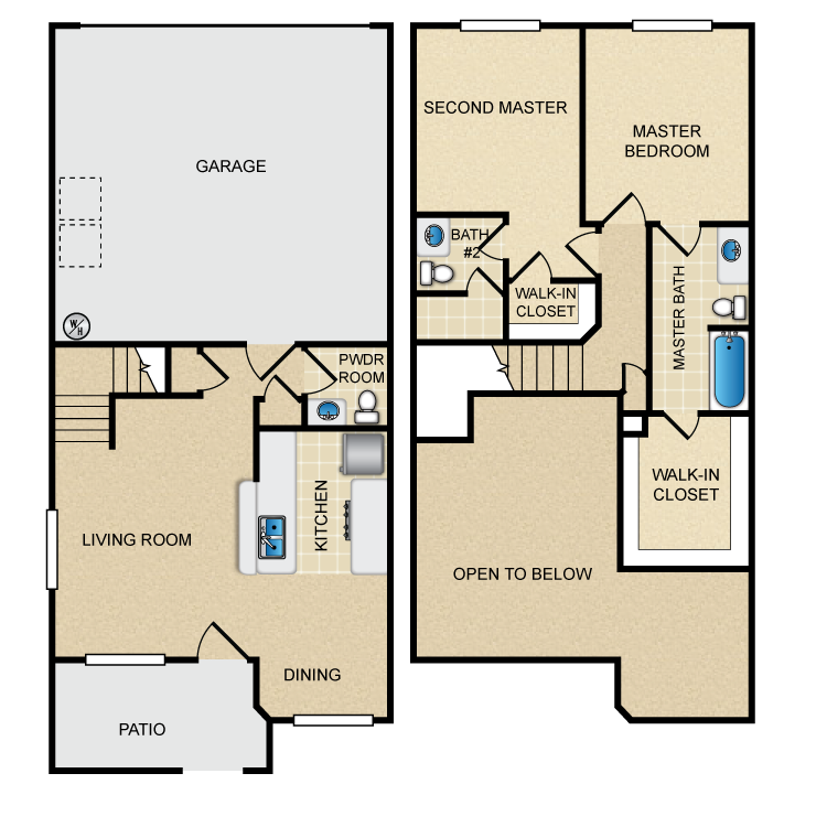 Floor Plans: Hidden Canyon Village Apartments: Apartment Homes in ...