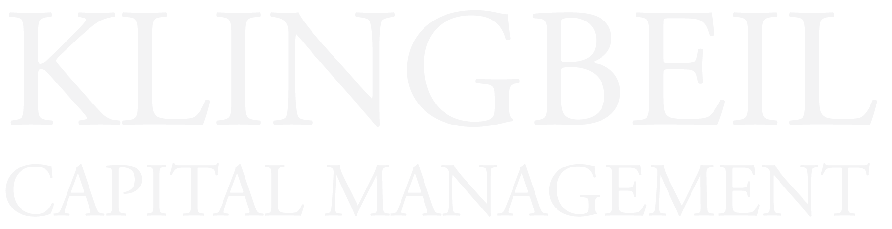 Klingbeil Capital Management Logo