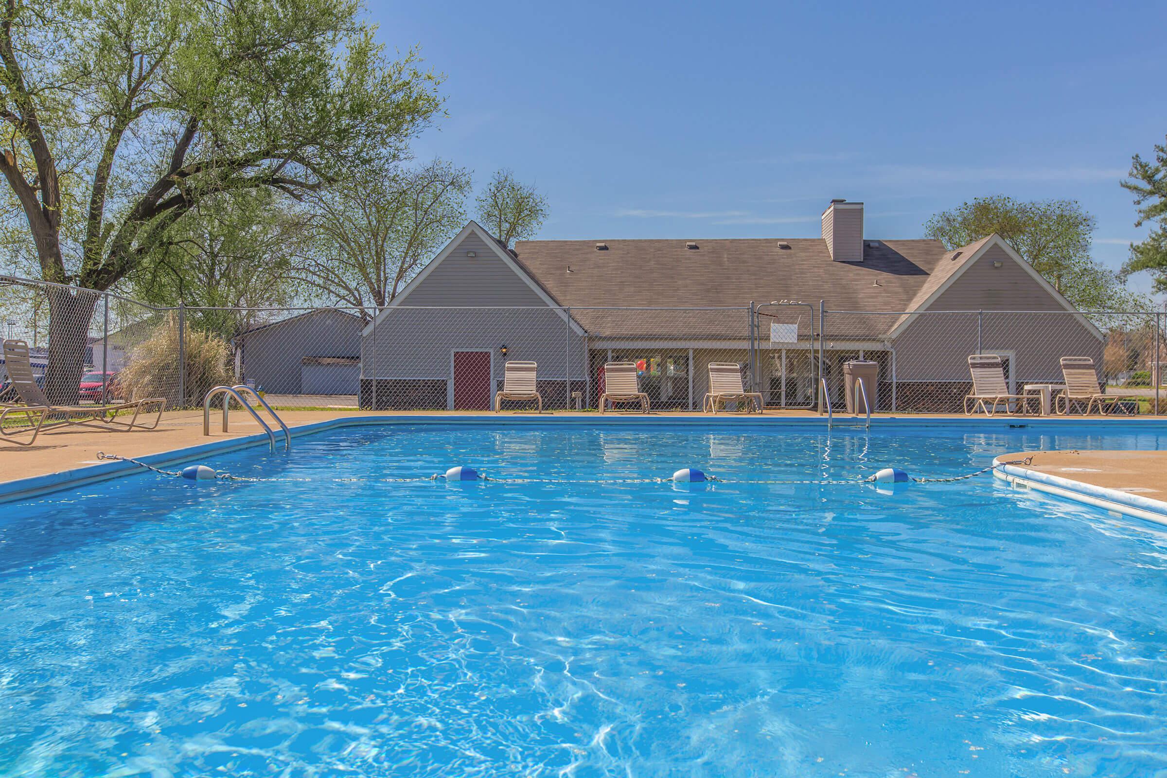 Shimmering swimming pool at Nottingham in Murfreesboro