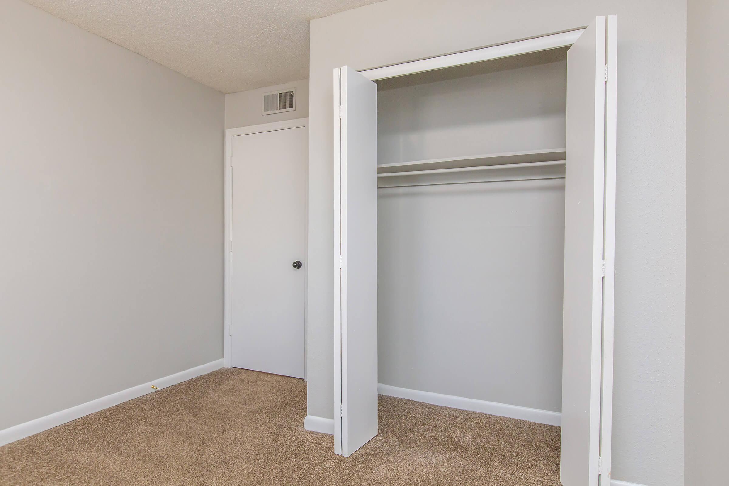 Adorable carpeted closet