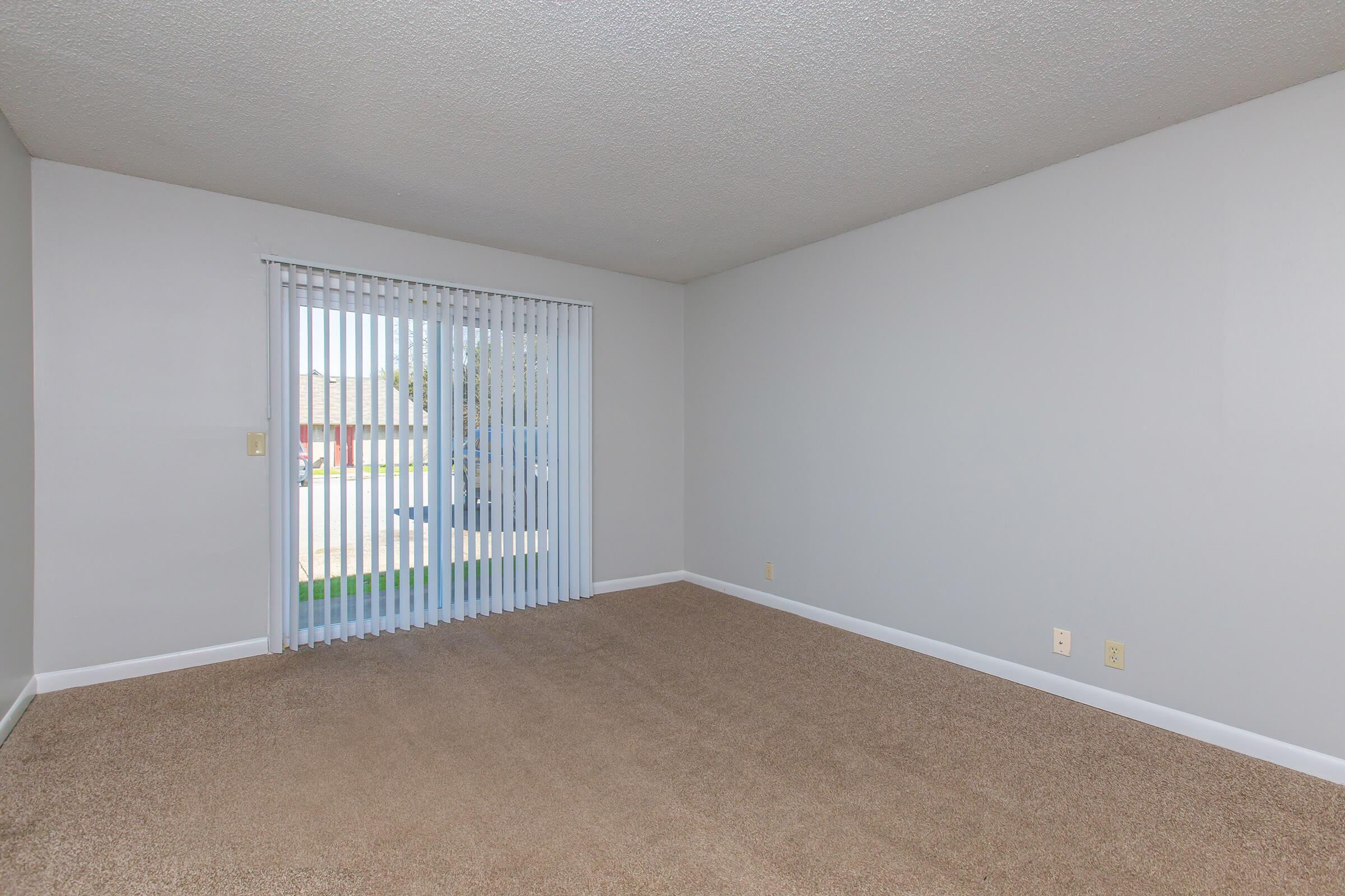 Soft carpeted floors in 2 bedroom apartment for rent