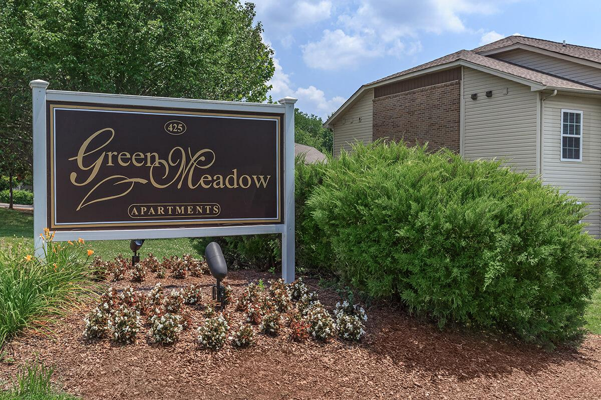 Green Meadows Monument Sign