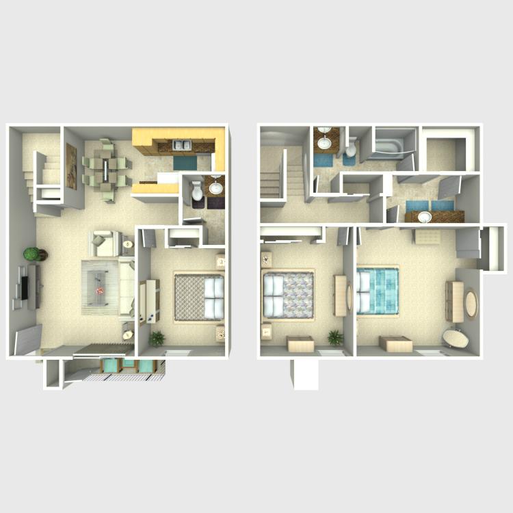Floor plan image of White Sage TH
