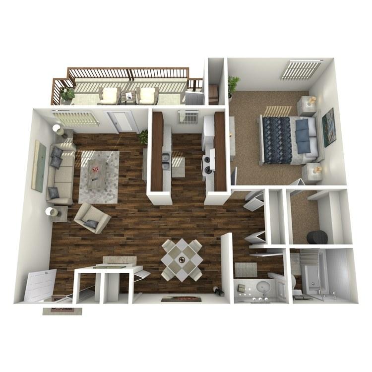 Floor plan image of Deluxe 1 Bedroom
