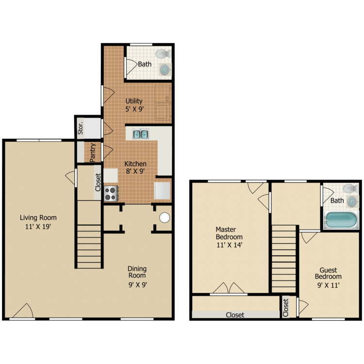 Floor plan image of B3TH