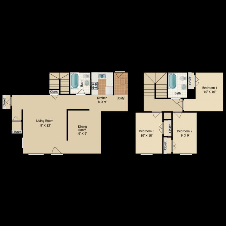 Floor plan image of C10 TOWNHOME