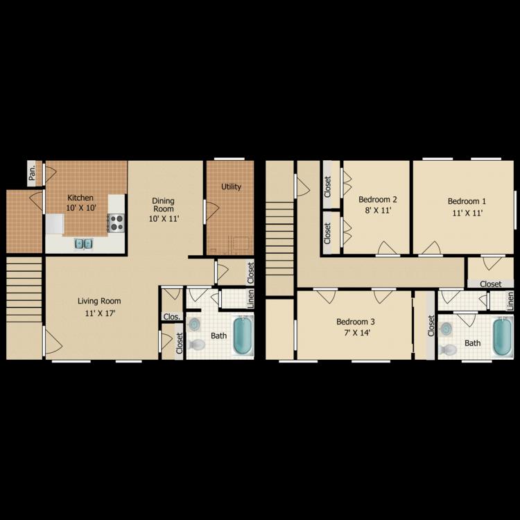 Floor plan image of C11 TOWNHOME