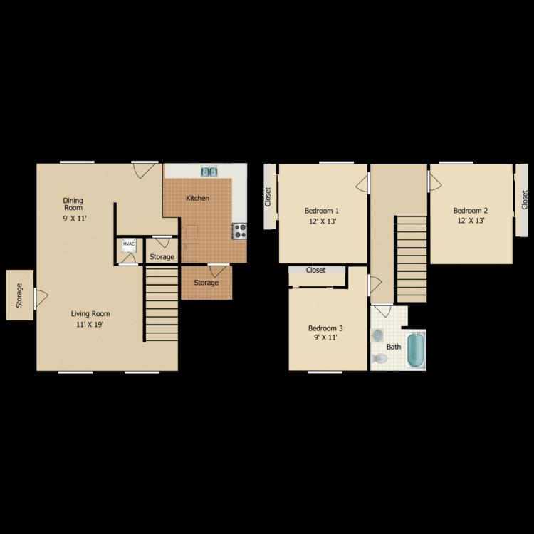Floor plan image of C3 TOWNHOME