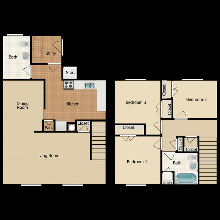 Floor plan image of C6 TOWNHOME