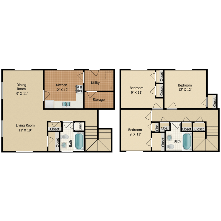 Floor plan image of C8 TOWNHOME