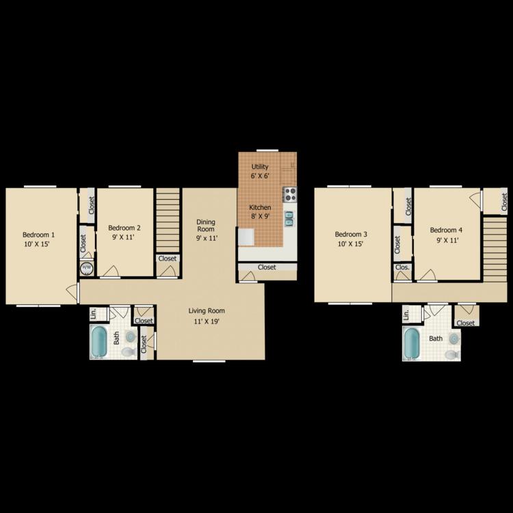 Floor plan image of D1 TOWNHOME
