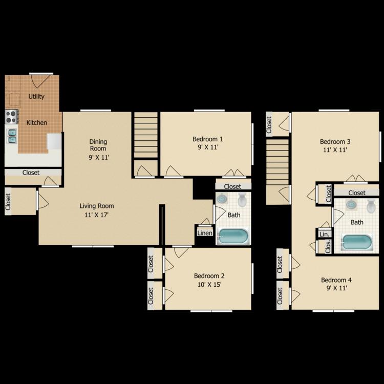 Floor plan image of D2 TOWNHOME