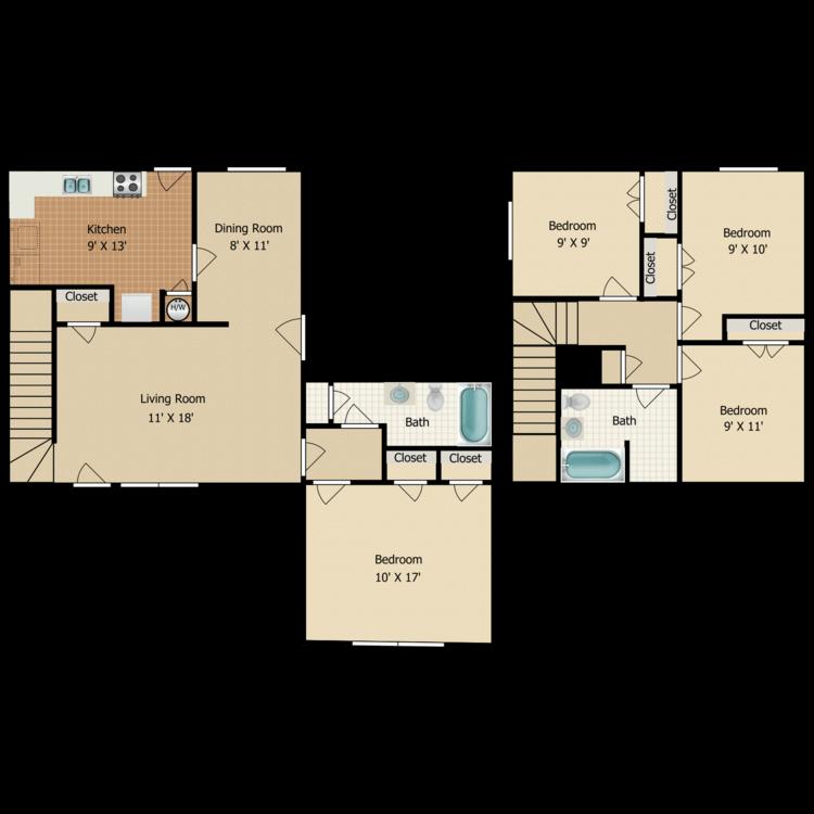 Floor plan image of D3 TOWNHOME
