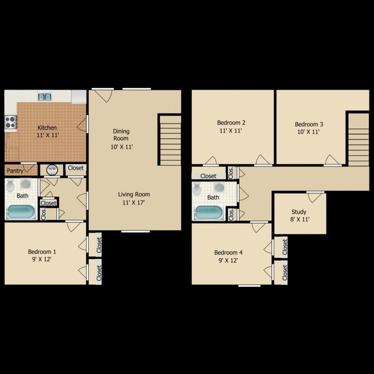 Floor plan image of D4 TOWNHOME
